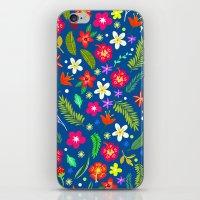 hawaiian iPhone & iPod Skins featuring Hawaiian Garden by uzualsunday