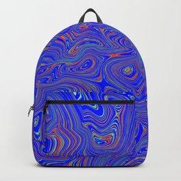 Blue Oil spill Backpack