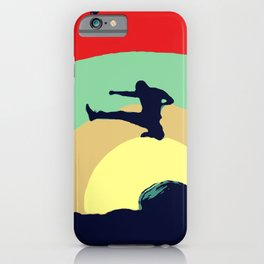 Colorful Karate Kick iPhone Case