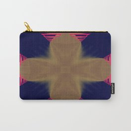 Pinkbrown(blue) Pattern 7 Carry-All Pouch
