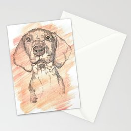 Vizsla Puppy Watercolor Painting Stationery Cards