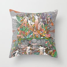 Dance of the Maypole Throw Pillow