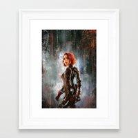 black widow Framed Art Prints featuring Black Widow by Wisesnail