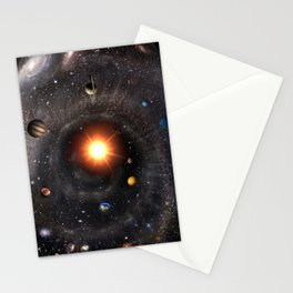 Hexagonal cosmic view Stationery Cards
