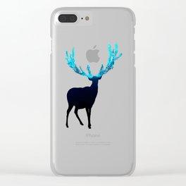 Greenery Deer - Sterling Magenta Clear iPhone Case