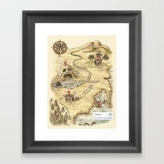 Did You Mean Treasure Island? Framed Art Print