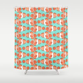 Clown fish - Mandarin Garnet Shower Curtain