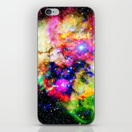magical colorful nebula universe iPhone Skin
