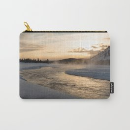 Yellowstone National Park - Sunrise along the Madison River Carry-All Pouch
