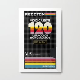 RECOTON VHS Metal Print