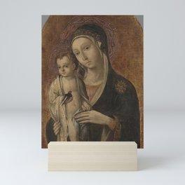Sano di Pietro - Madonna and Child Mini Art Print