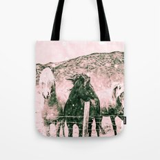 Horses - Spirit Animals Black and White Tote Bag