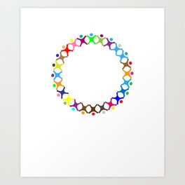 Love, freedom, religion, politics Art Print