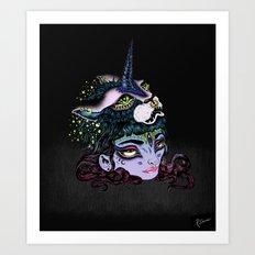 I Grew a Unicorn Art Print