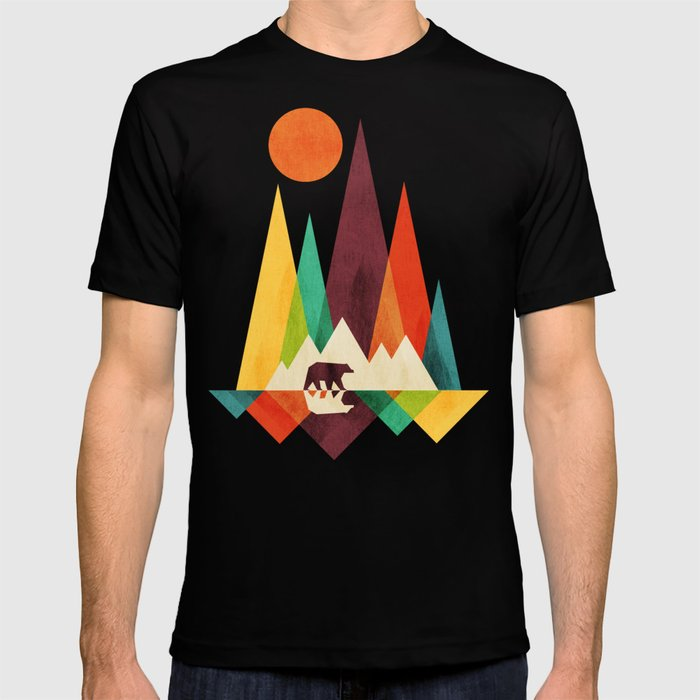 aab7700e Bear In Whimsical Wild T-shirt by budikwan | Society6