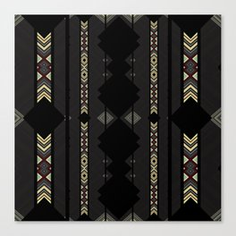 Southwestern Black Diamond Stripe Patterns Canvas Print