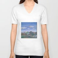 country V-neck T-shirts featuring Country by Thomas Madden