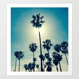 Chillin' palms Art Print