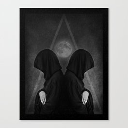 Side by side with the moon Canvas Print