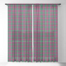 Akins Tartan Plaid Sheer Curtain
