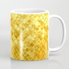 Give me Gold: festive, golden, fashionable, 3-d, glittery, Christmas, cheerful, lattice design Coffee Mug