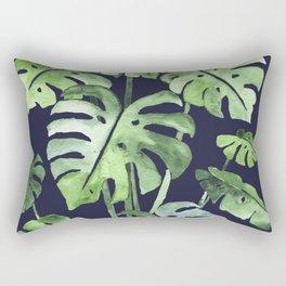 Delicate Monstera Blue #society6 Rectangular Pillow