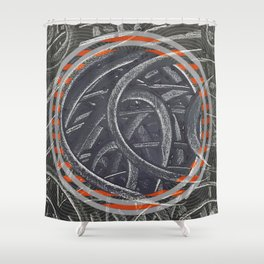 Junction - orange circle Shower Curtain