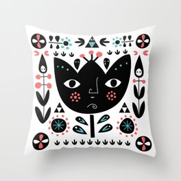 Folksy - Day Throw Pillow