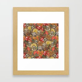 Because Sloths Autumn Framed Art Print