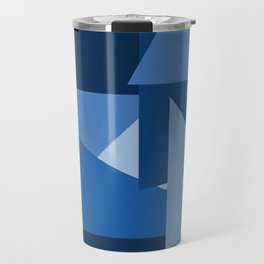 Blu-Geometric Travel Mug