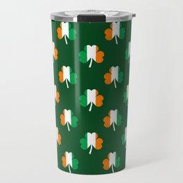 Irish Flag Green White Orange on Green St. Patrick's Day Ireland Travel Mug