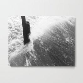 Churning Surf Amongst The Pier Metal Print