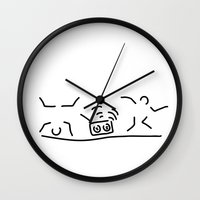 hiphop Wall Clocks featuring hiphop rap streetdance dancers by Lineamentum