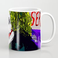 the joker Mugs featuring joker by Saundra Myles