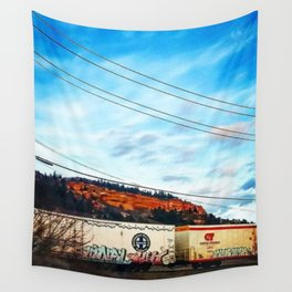 Graffiti and Lines Wall Tapestry