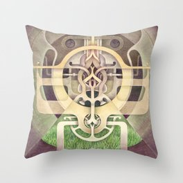 Composition III Throw Pillow