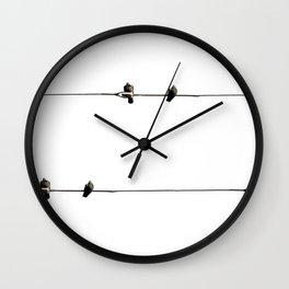 Bird on Wire Wall Clock
