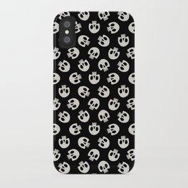 Cute Skulls (Black) iPhone Case