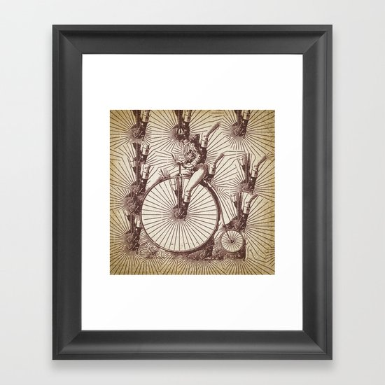 crazy penny Framed Art Print