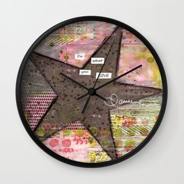 Do What You Love Wall Clock
