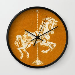 Vintage Carousel Horse Wall Clock