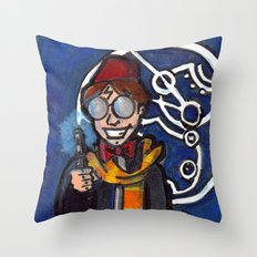 Doctor Harry Who Throw Pillow