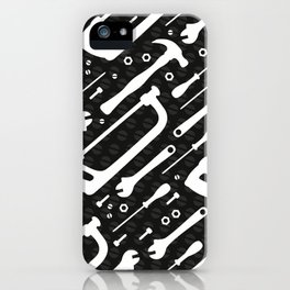 Black and White Tools iPhone Case