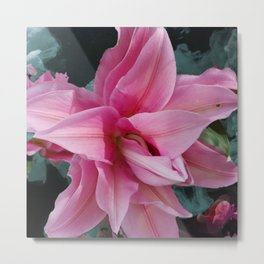 Solitary Lily Metal Print