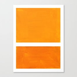 Antique Yellow  & Yellow Ochre Mid Century Modern Abstract Minimalist Rothko Color Field Squares Canvas Print