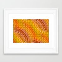 orange pattern Framed Art Prints featuring Pattern orange by Christine baessler