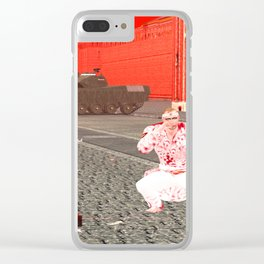 Squared: Golden Age Of Spain Clear iPhone Case