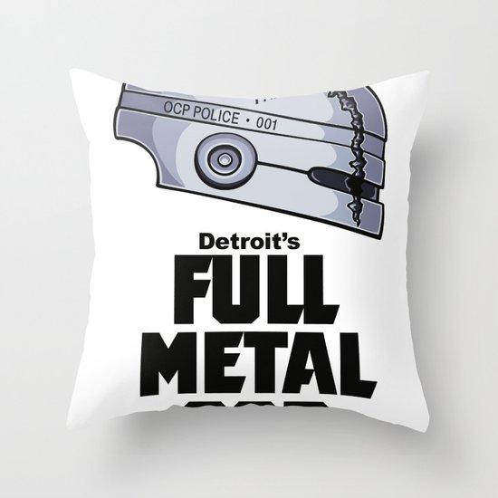Full Metal Cop Throw Pillow