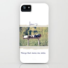 Things that make me smile iPhone Case