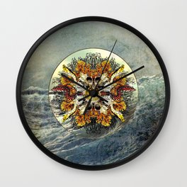Ocean Jewels - Puffer Fish And Moray Eels Wall Clock